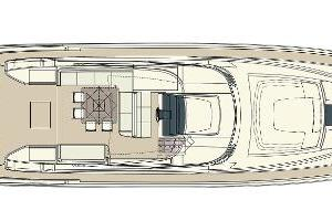 88' Riva 88' Florida 2016 Manufacturer Provided Image: Riva 88' Florida Upper Deck Layout Plan