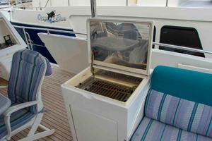70' Johnson 70 1997 Aft deck BBQ