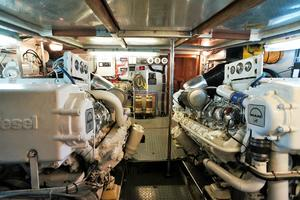 70' Johnson 70 1997 Eng rm looking aft