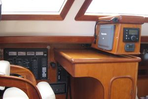 58' Tayana 58 Deck Saloon 2006 Inside helm - nav station - autopilot controls