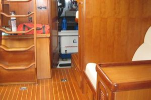 58' Tayana 58 Deck Saloon 2006 Salon looking aft - walkin engineroom door
