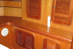 58' Tayana 58 Deck Saloon 2006 Storage in the Master Cabin