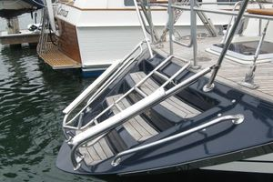58' Tayana 58 Deck Saloon 2006 Custom tender skid plates - steps - swim ladder