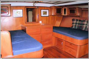 55' Tayana Cutter Rig Center Cockpit 1986 Master Stateroom