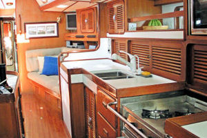 55' Tayana Cutter Rig Center Cockpit 1986 Galley