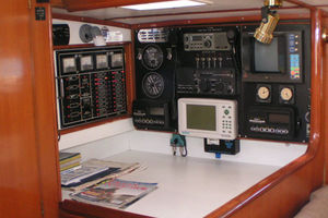 55' Tayana Cutter Rig Center Cockpit 1986 Nav Station