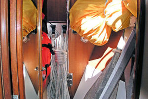 55' Tayana Cutter Rig Center Cockpit 1986 Sail Locker in Fore Peak