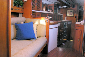 55' Tayana Cutter Rig Center Cockpit 1986 Settee and Galley