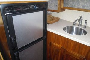35' Californian Convertible 1985 Galley Refrigerator and Sink