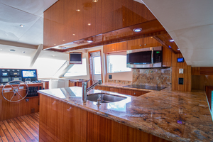 64' Hatteras Flybridge Motoryacht 2008 Galley Looking Forward