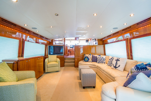 64' Hatteras Flybridge Motoryacht 2008 Salon Looking Foward