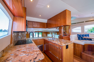 64' Hatteras Flybridge Motoryacht 2008 Galley Looking Aft