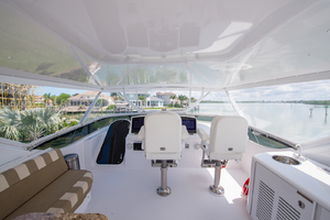 64' Hatteras Flybridge Motoryacht 2008 Flybridge Looking Forward
