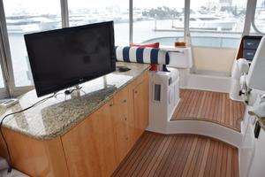 62' Neptunus Flybridge With Euro Transom 2008 Flybridge console, granite counter