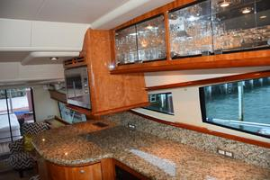 62' Neptunus Flybridge With Euro Transom 2008 Granite countertops