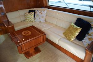 62' Neptunus Flybridge With Euro Transom 2008 Salon settee