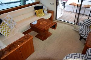 62' Neptunus Flybridge With Euro Transom 2008 Salon aft view