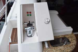 62' Neptunus Flybridge With Euro Transom 2008 Aft deck controls