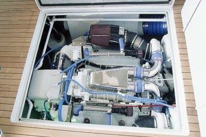 53' Rybovich Yacht Fish 1963 Engine Compartment
