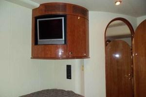 65' Neptunus Flybridge Motor Yacht 2004 Starboard Guest Cabin Looking Aft