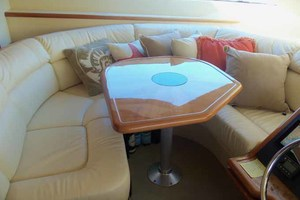 65' Neptunus Flybridge Motor Yacht 2004 Dinette with Table Up