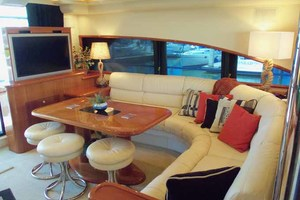 65' Neptunus Flybridge Motor Yacht 2004 Salon Portside Looking Aft