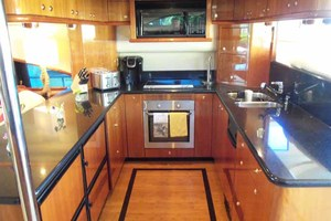 65' Neptunus Flybridge Motor Yacht 2004 Galley Looking to Port