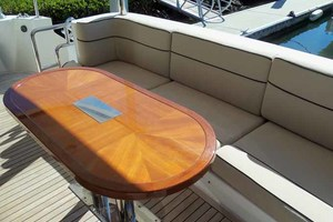 65' Neptunus Flybridge Motor Yacht 2004 Aft Deck Table