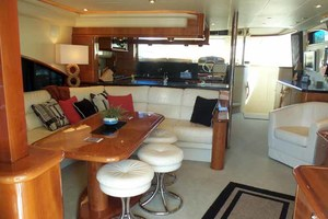65' Neptunus Flybridge Motor Yacht 2004 Salon Looking Forward