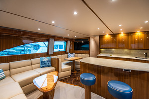 55' Viking 55 Convertible 2014 Galley and Dinette