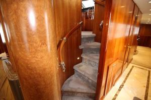 103' Westport West Bay 2000 Pilothouse Stairway and Companionway