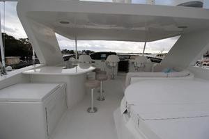 103' Westport West Bay 2000 Flybridge Aft - Looking Forward