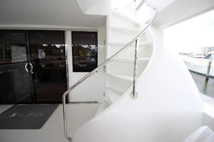 103' Westport West Bay 2000 Aft Deck Staircase to Flybridge