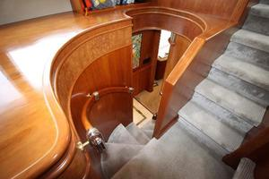 103' Westport West Bay 2000 Pilothouse Stairway -  Up to Flybridge, Down to Starboard Main Deck Companionway