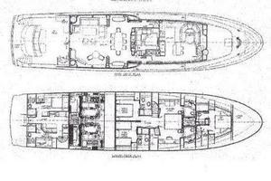 103' Westport West Bay 2000 SEA FILLY - Layout