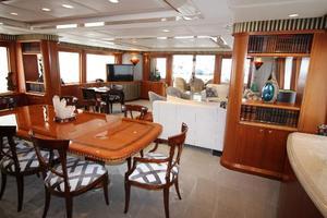 103' Westport West Bay 2000 Dining Salon - Looking Aft