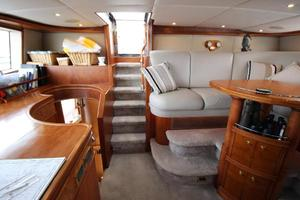 103' Westport West Bay 2000 Pilothouse - Looking Aft to Flybridge Stairs