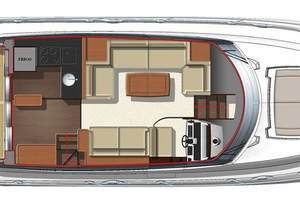 50' Prestige 500 S 2017 Main Deck Layout