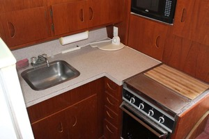 45' Viking 40 Sportfish 1978 Galley Sink and Oven