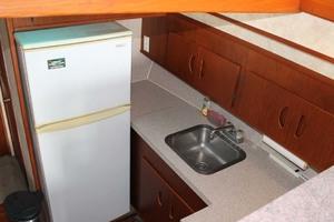 45' Viking 40 Sportfish 1978 Galley Sink and Refrigerator