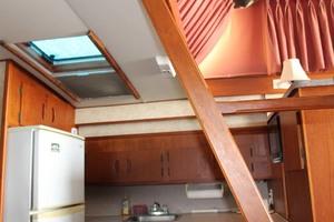 45' Viking 40 Sportfish 1978 Galley Overhead Hatch
