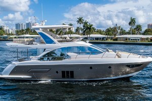 52' Azimut 50 Flybridge 2016 Starboard Profile