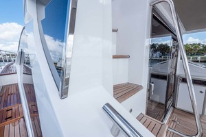50' Azimut 50 Flybridge 2016 Starboard Side Deck Looking Forward