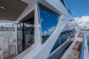 52' Azimut 50 Flybridge 2016 Port Side Deck Looking Aft