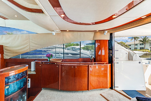 58' Fairline Squadron 2002 Main Salon Entertainment Center (TV Down)