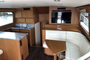 50' Henriques Flybridge 2017 Salon and Galley