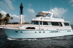 63' Hatteras 63 Cockpit Motor Yacht 1987 Port Profile Idle