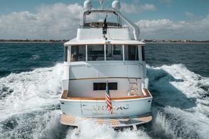63' Hatteras 63 Cockpit Motor Yacht 1987 Stern 1