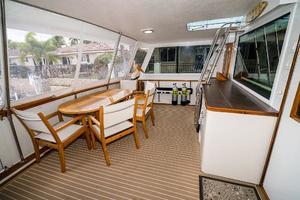 63' Hatteras 63 Cockpit Motor Yacht 1987 Aft Deck Port