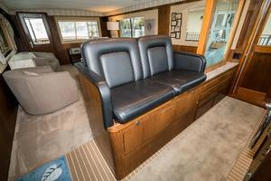 63' Hatteras 63 Cockpit Motor Yacht 1987 Lower Helm Seating